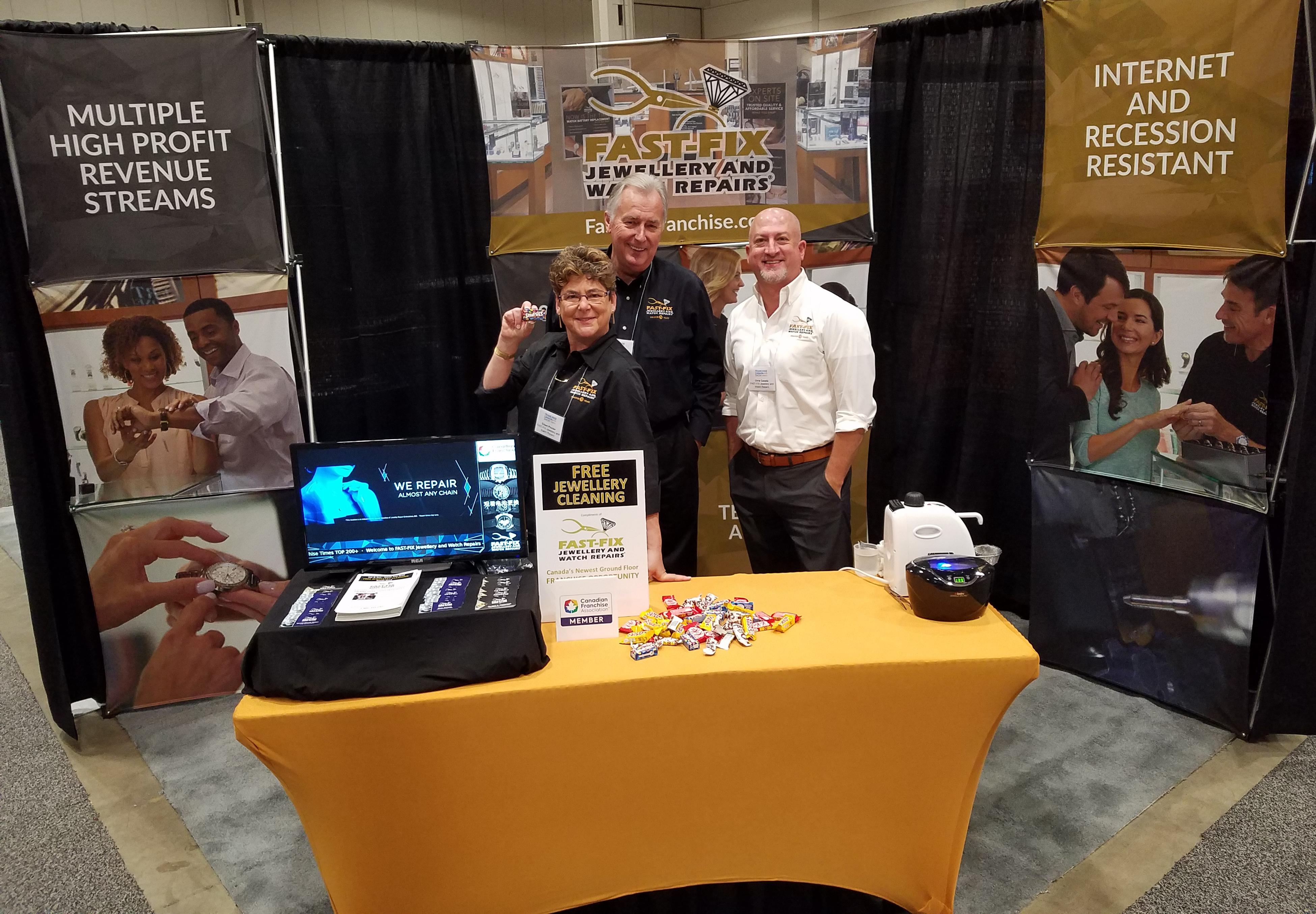 Fast Fix team at Canada Franchise Show