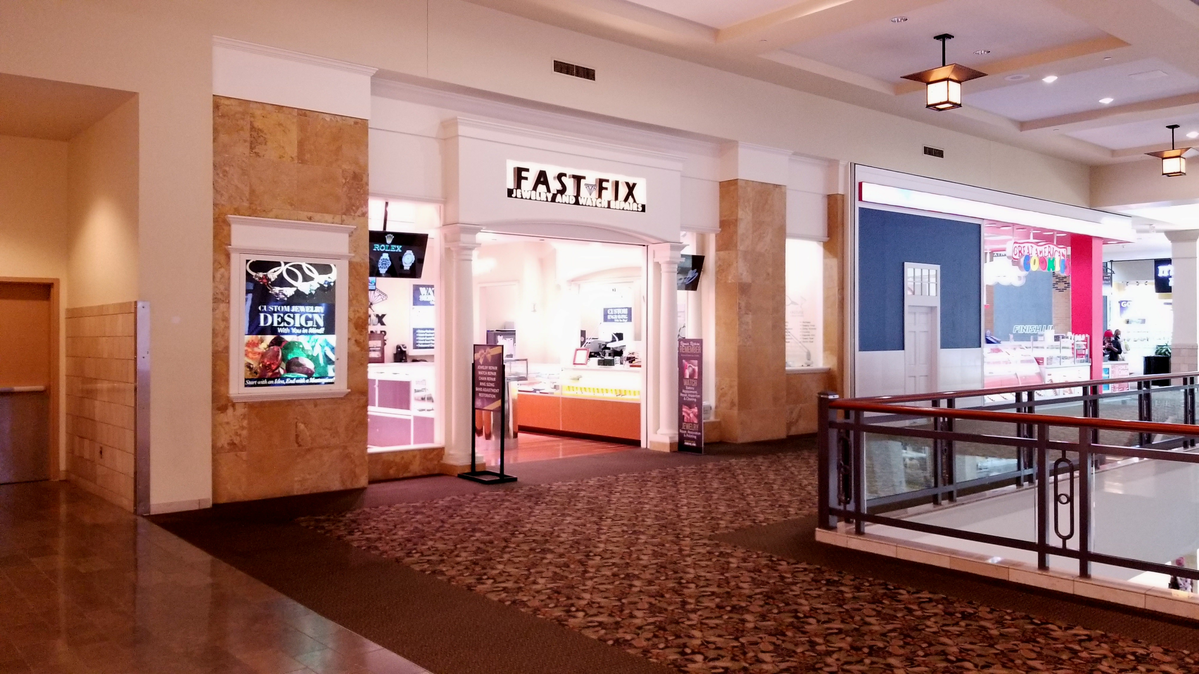 Storefront of Fast Fix Jewelry and Watch Repairs at Mall of Georgia