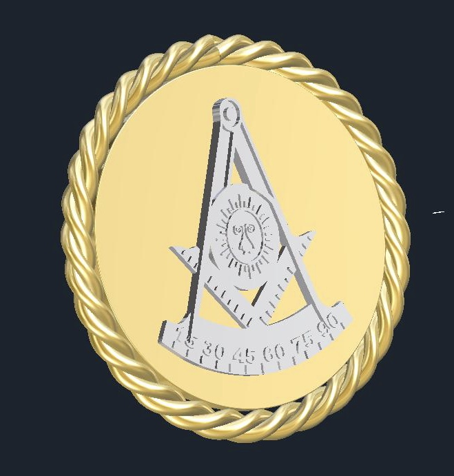 Custom made past master pendant