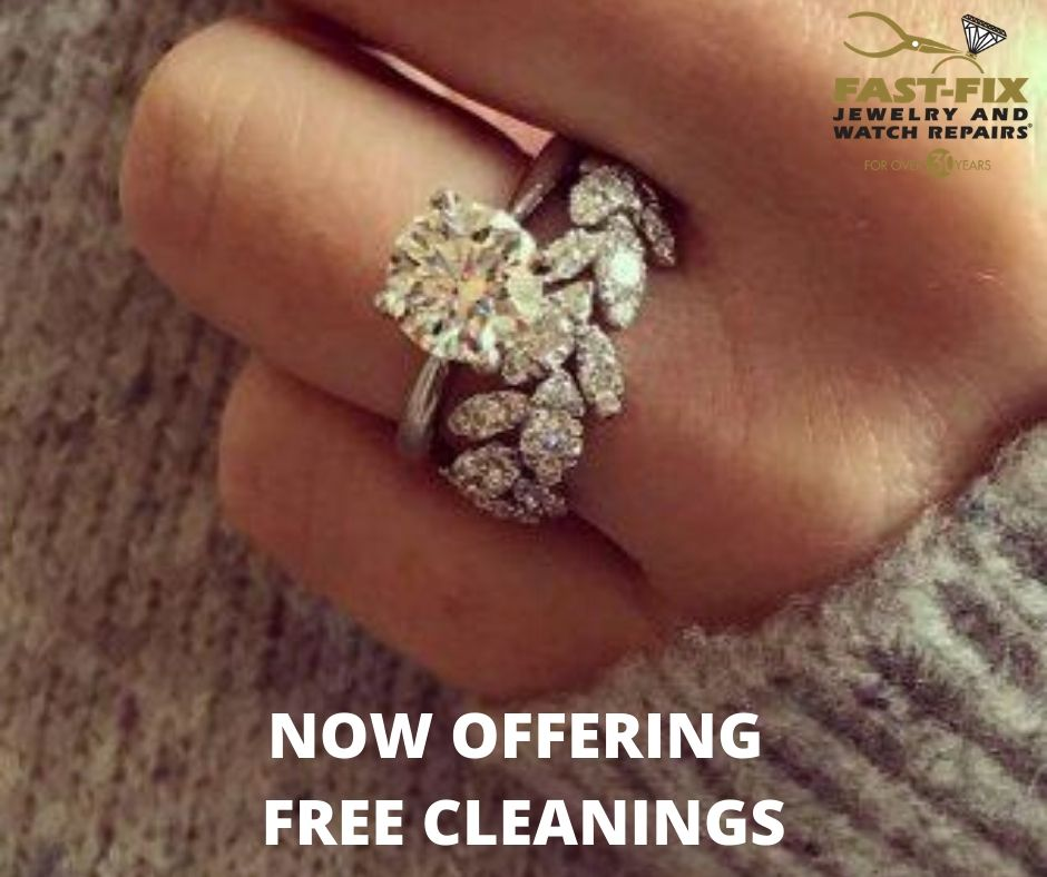 Picture of a ring offering free jewelry cleaning