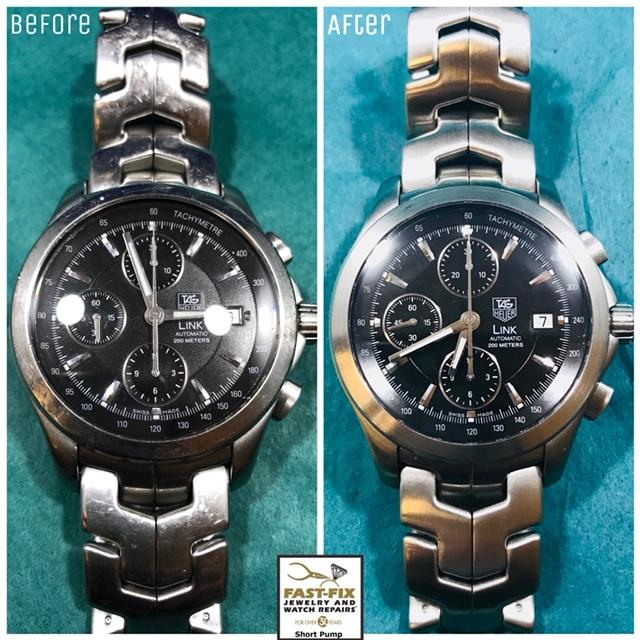 Tag Heuer watch service and band refurbishing